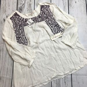 Altard State NWT Embroidered Top Size Large